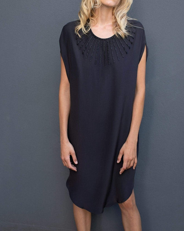 Manakaa Project UG dresses Small/Medium / Black Silk Dress in Organic Cotton sustainable fashion ethical fashion