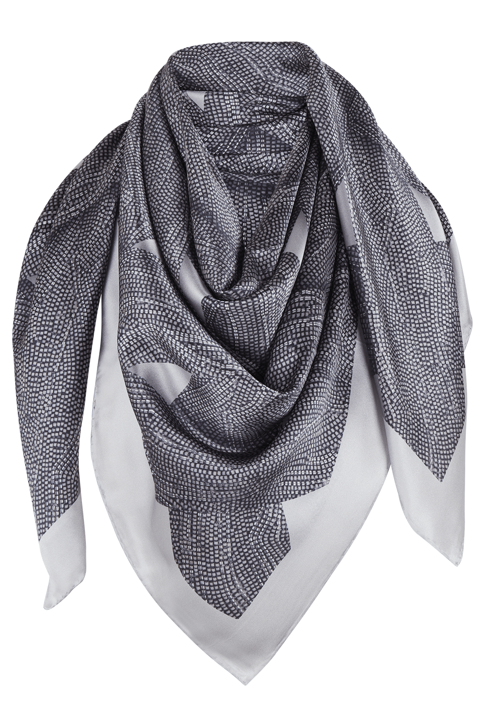 Manakaa Project UG hats & scarves Grey Sustainable Scarf in Peace Silk. sustainable fashion ethical fashion