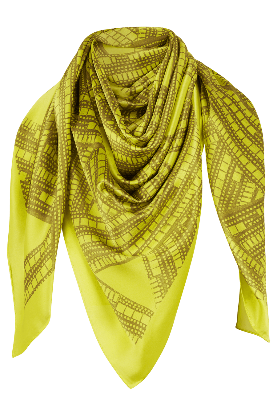 Manakaa Project UG hatter og skjerf Yellow Sustainable Scarf in Peace Silk. bærekraftig moteetisk mote
