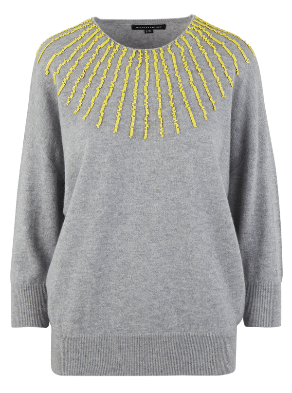 Manakaa Project UG sweaters Grey Jumper in Cashmere. sustainable fashion ethical fashion