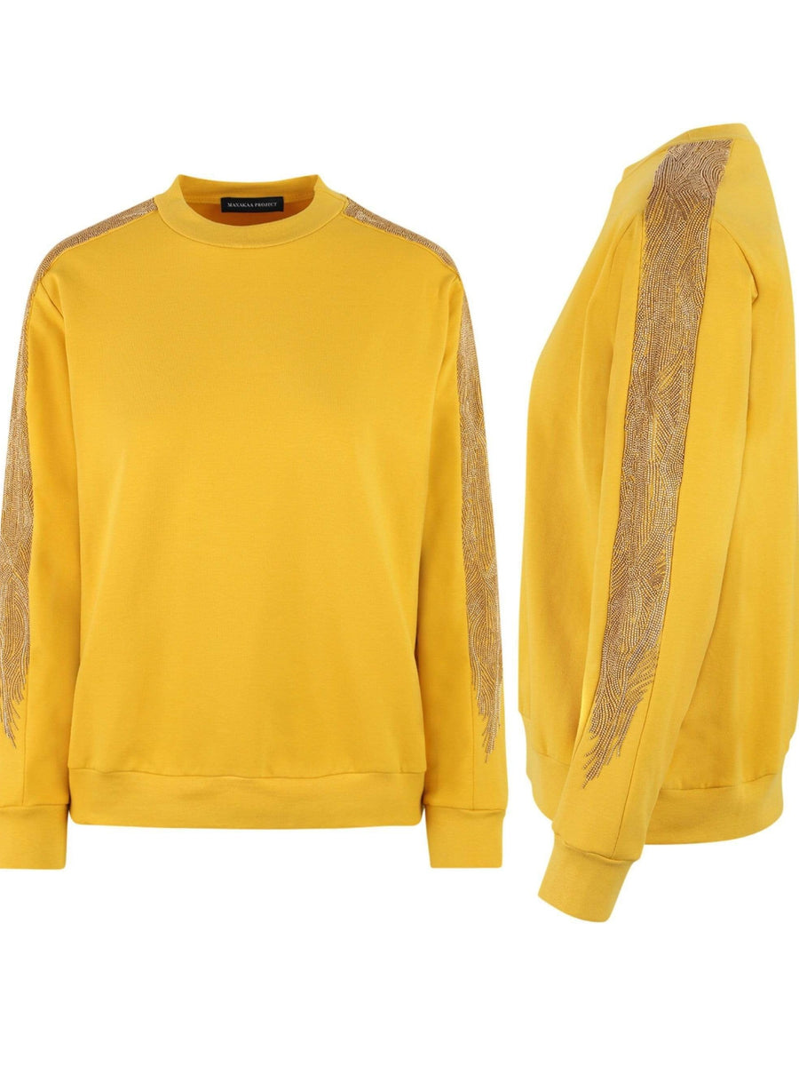 Manakaa Project UG sweaters Small / Mustard/Gold Mustard Sweater in Organic Cotton. sustainable fashion ethical fashion