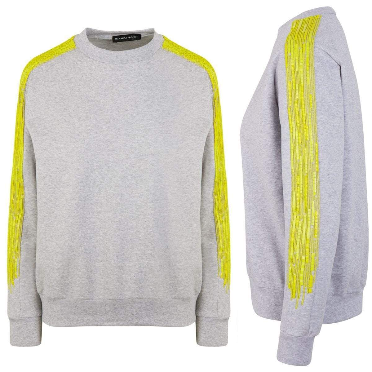 Manakaa Project UG sweaters Sweater in Organic Cotton and MIYUKI beads. sustainable fashion ethical fashion