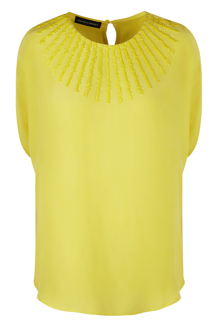 Manakaa Project UG tops Small/Medium / Yellow Silk Shirt in Organic Cotton sustainable fashion ethical fashion
