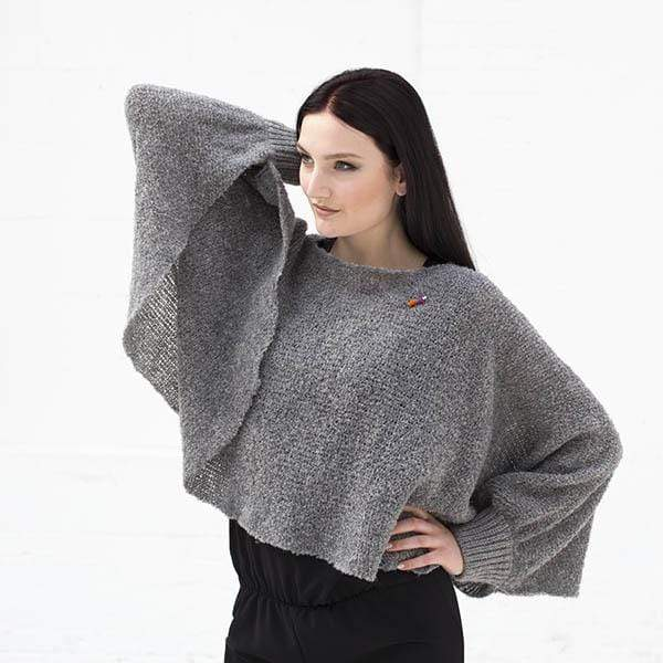 meinfrollein top Poncho Scarf Bette. Organic Wool and Alpaca. sustainable fashion ethical fashion