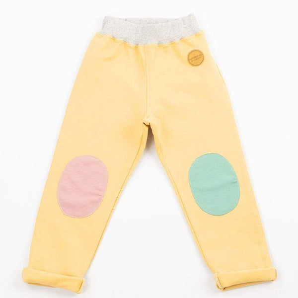 Mimookids Barcelona bukser Pant Pull-me-up Organic Sweat Sand & Apple & Rose bærekraftig moteetisk mote