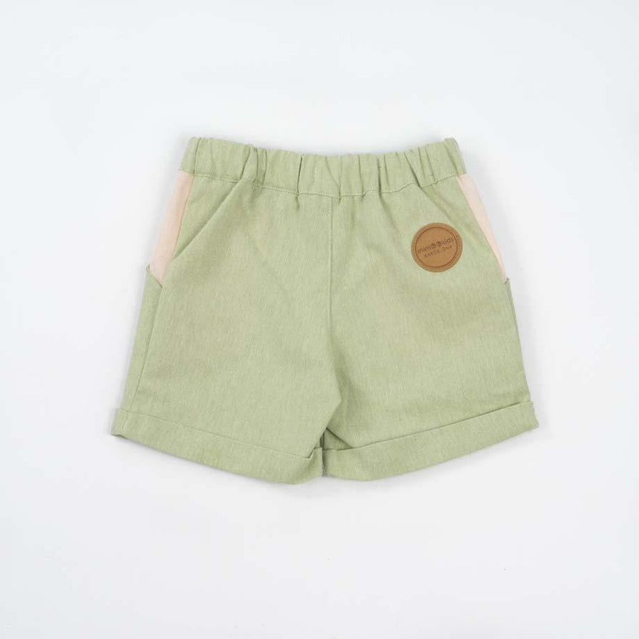 Mimookids Barcelona shorts Shorts Close-Me in Recycled, Upcycled and Organic Cotton. sustainable fashion ethical fashion