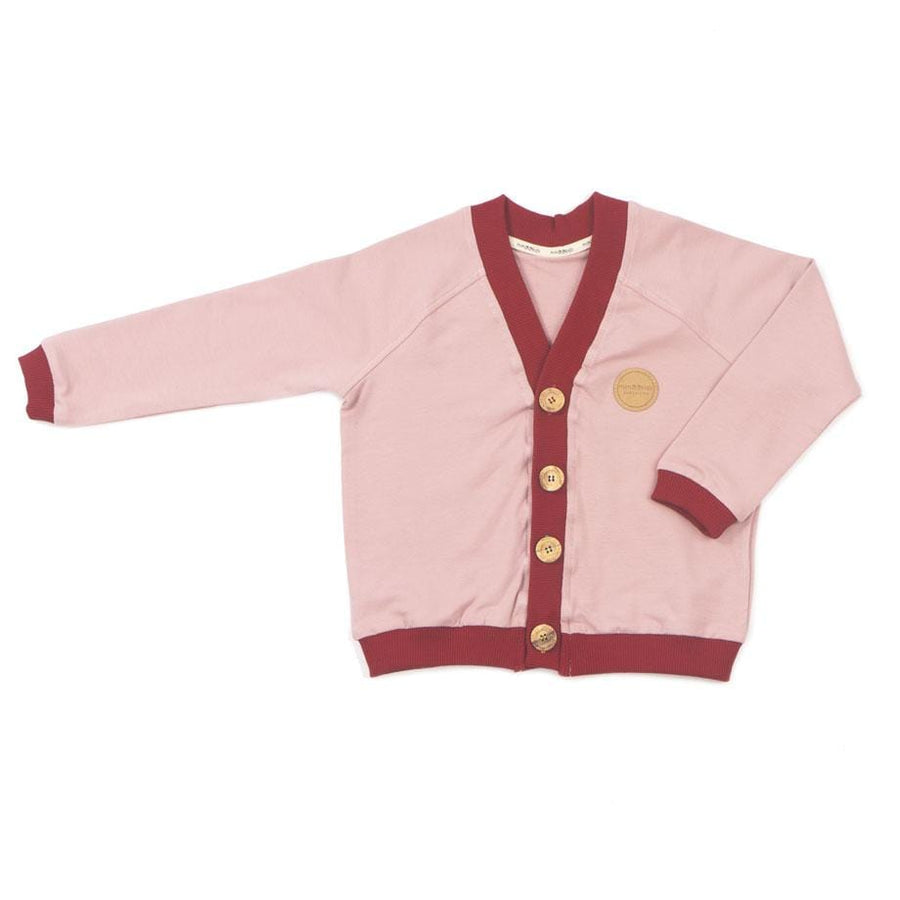MimOOkids Barcelona Tops Cardigan Close-Me Organic Sweat Rose Chili moda sostenible moda ètica