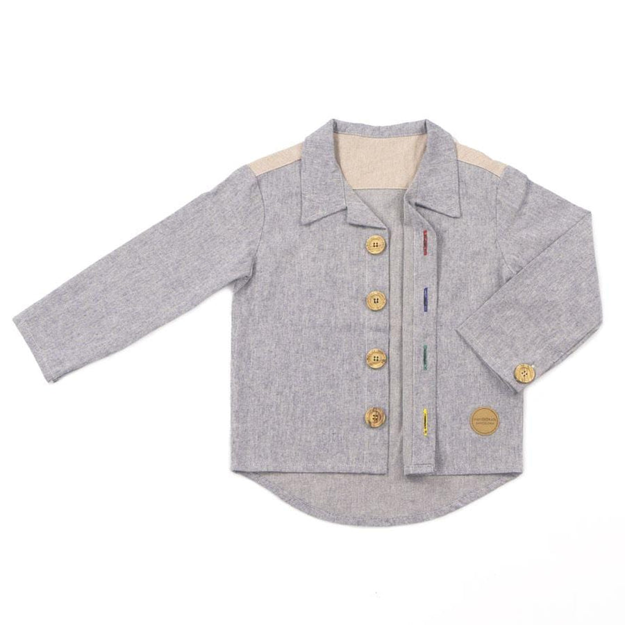 Mimookids Barcelona tops Shirt Close-Me Cotó reciclat Denim moda sostenible moda ètica