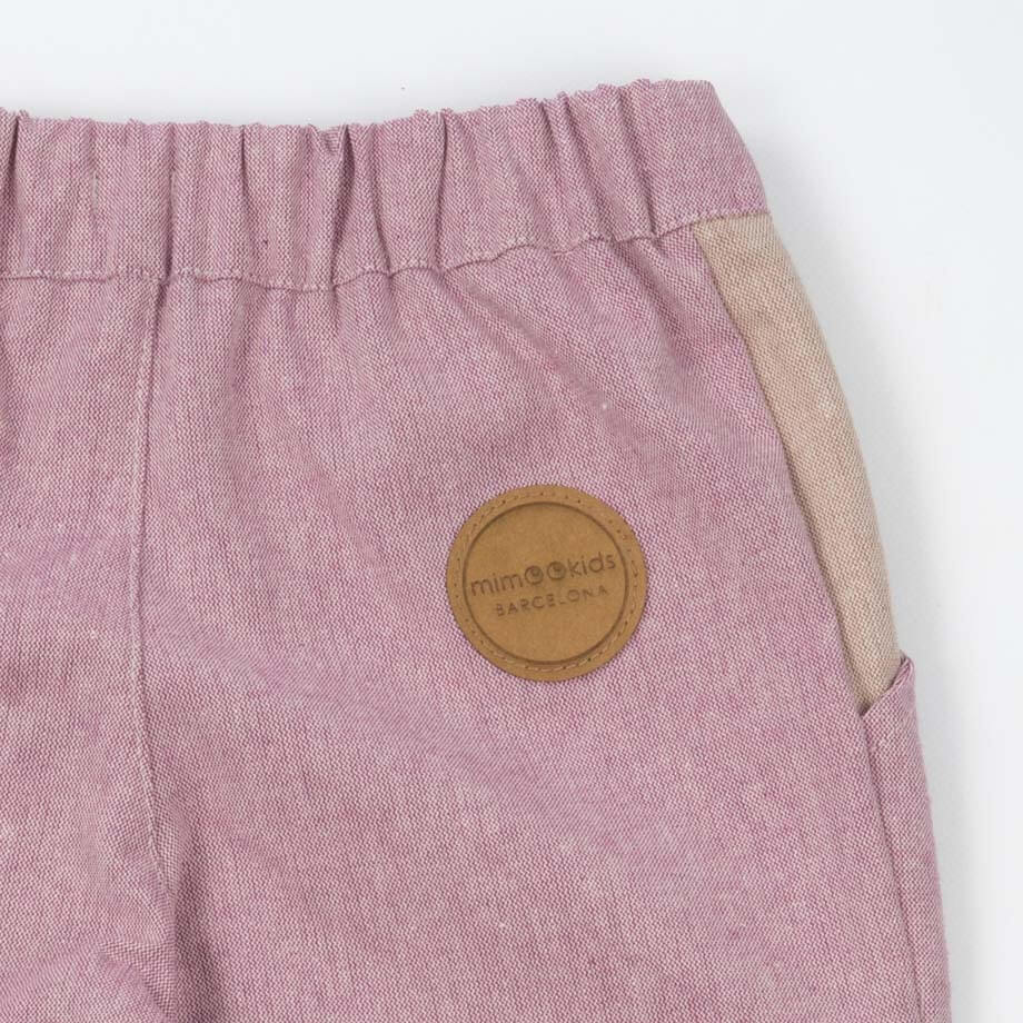 MimOOkids Pants & Shorts Close-me Lined Pant Close-Me Recycled Cotton Rose sustainable fashion ethical fashion