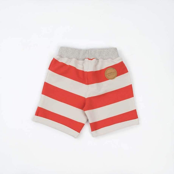 MimOOkids Pantalons et shorts Pull-me-up Pant Pull-me-up Sweat bio Rayures rouges Mode durable Mode éthique