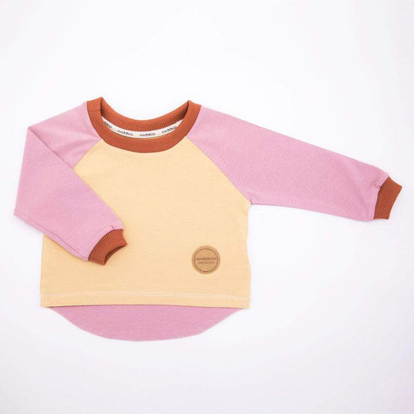 MimOOkids Tops Easy-dressing Shirt Easy-dressing Organic Rose & Sand & Cinnamon sustainable fashion ethical fashion