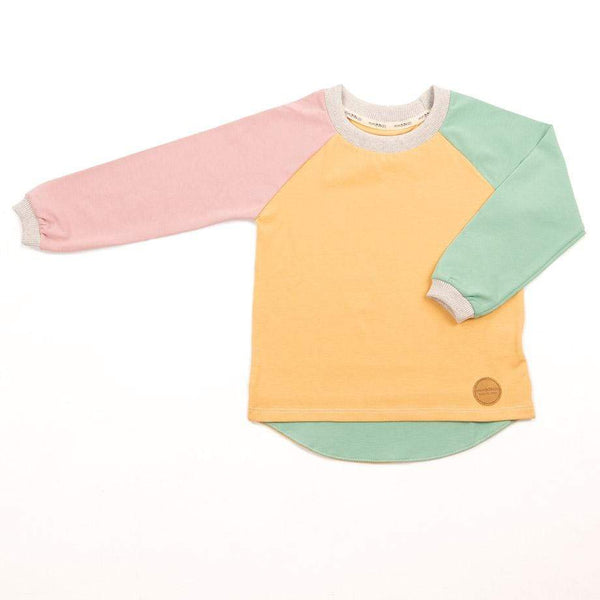 MimOOkids Tops Chemise Easy-dressing Easy-dressing Bio Sand & Apple & Rose Mode durable Mode éthique