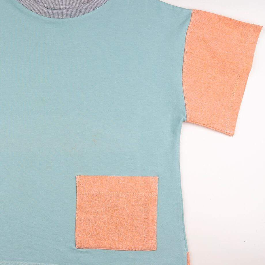 MimOOkids Tops Easy-dressing Shirt Oversize Organic Mint & Mandarina sustainable fashion ethical fashion