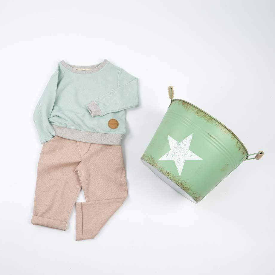 MimOOkids Tops Easy-dressing Sweater Easy-dressing Organic Piqué Mint sustainable fashion ethical fashion