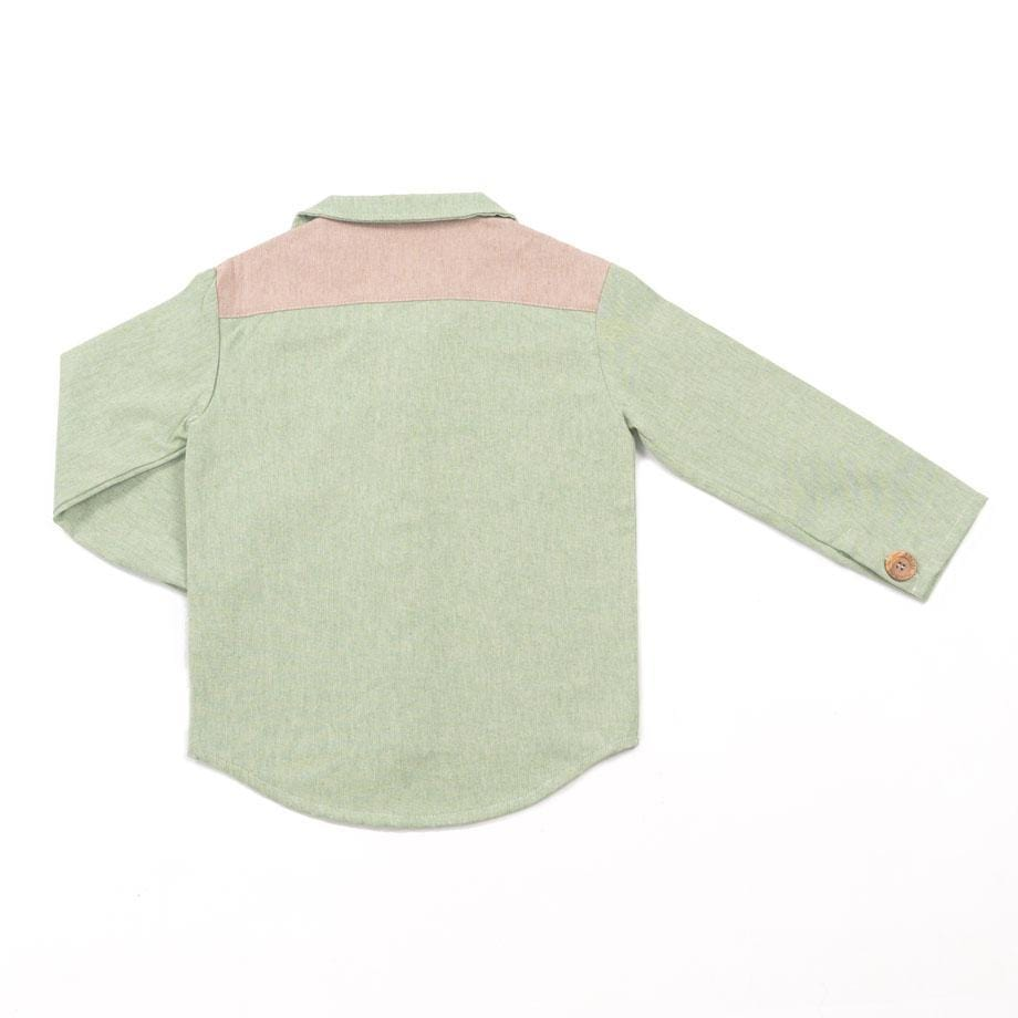 MimOOkids Tops Shirt Close-Me Recycled Cotton Pistacho Green sustainable fashion ethical fashion
