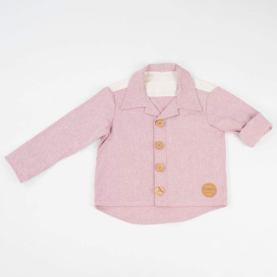 MimOOkids Topper skjorte Close-Me Recycled Cotton Rose bærekraftig moteetisk mote