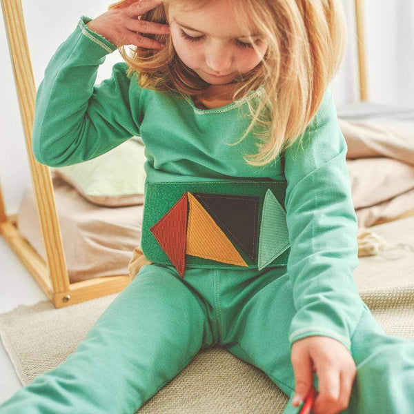MimOOkids Velcro Games Styles Sweater Play-With-Me Organic Sweat Apple Green sustainable fashion ethical fashion
