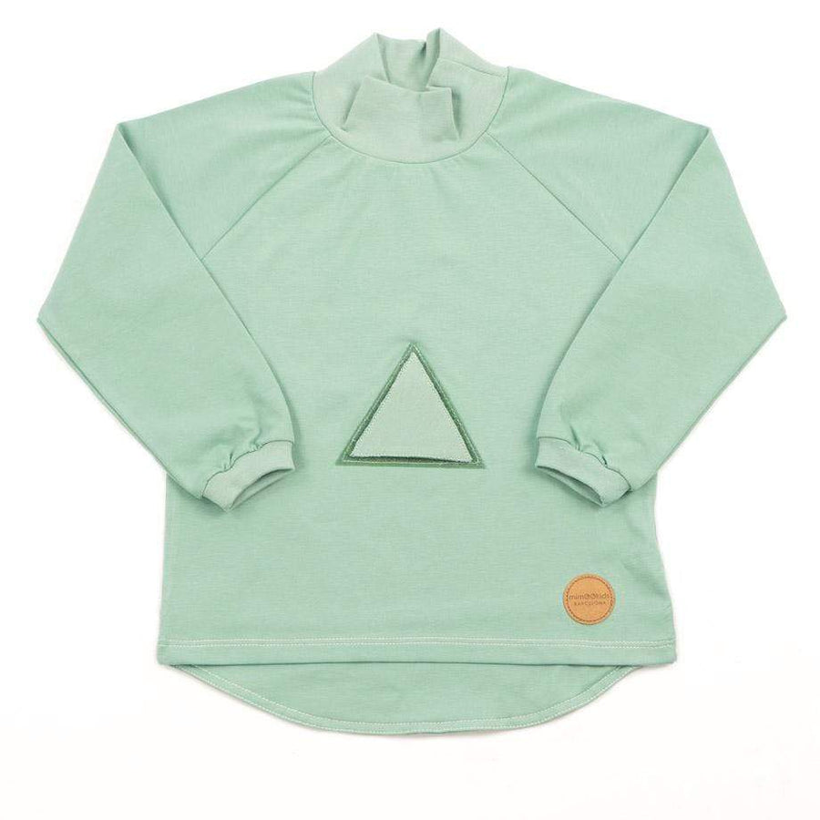 MimOOkids Velcro Games Styles Turtle Neck Shirt Organic Cotton Apple Green sustainable fashion ethical fashion