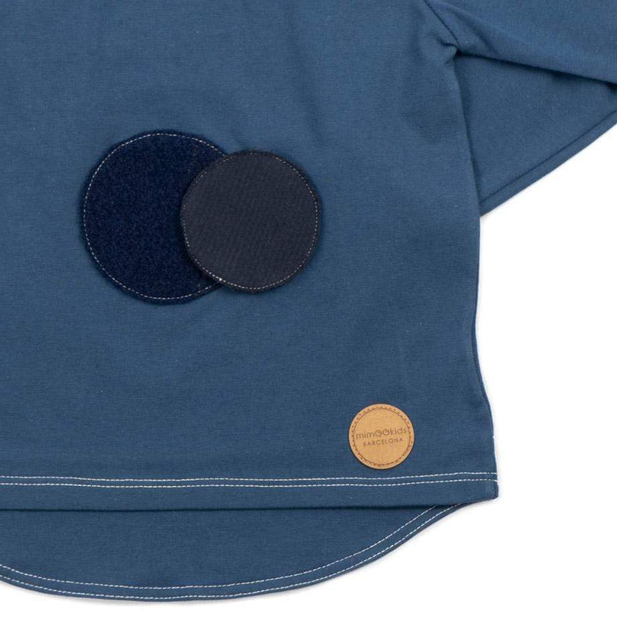 MimOOkids Velcro Games Styles Turtle Neck Shirt Organic Cotton Petrol Blue sustainable fashion ethical fashion
