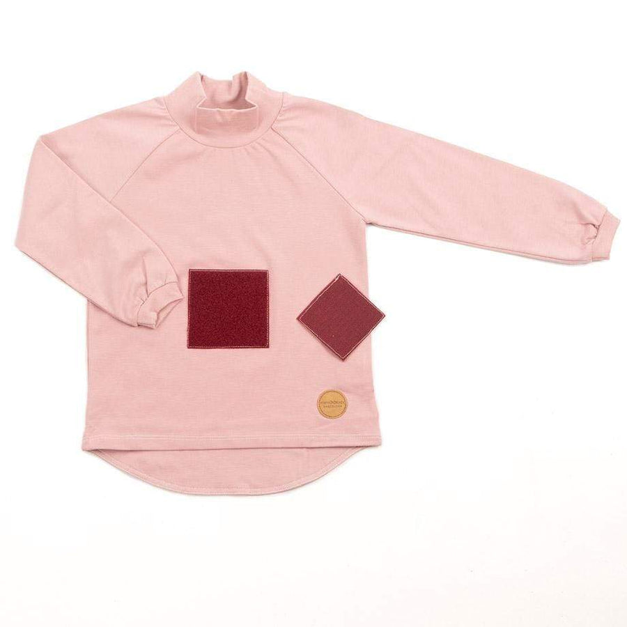 MimOOkids Velcro Games Styles Turtle Neck Shirt Organic Cotton Rose sustainable fashion ethical fashion