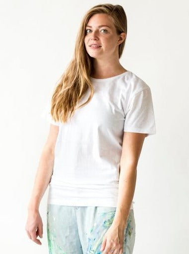 Mori Collective top Lonely Rider T-Shirt in Recycled Cotton and Polyester. sustainable fashion ethical fashion