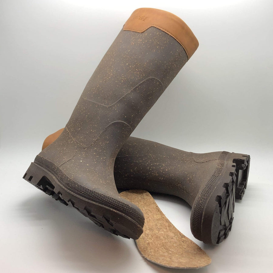 Rugged Prime Bully Rainboots in Rubber and Recycled Cork.