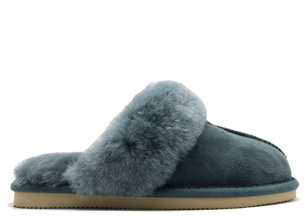 NAT 2 footwear thies 1856 ® Sheepskin Slipper petrol (W) sustainable fashion ethical fashion