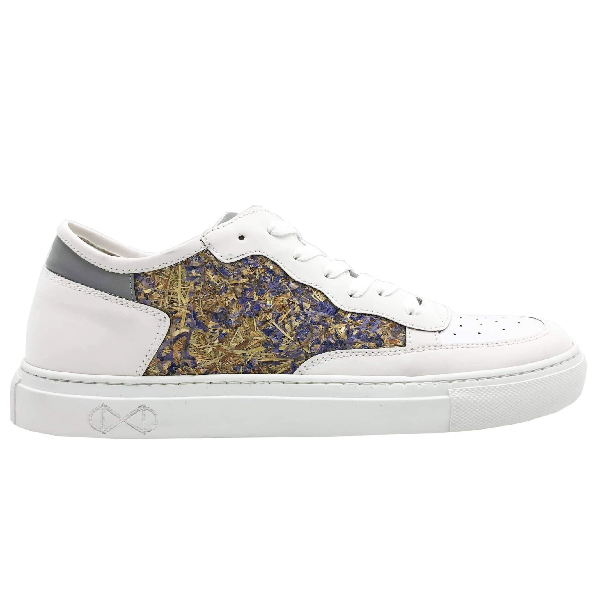 NAT 2 shoe Delphinium Sneakers. Delphinium Flowers (Rittersporn). sustainable fashion ethical fashion