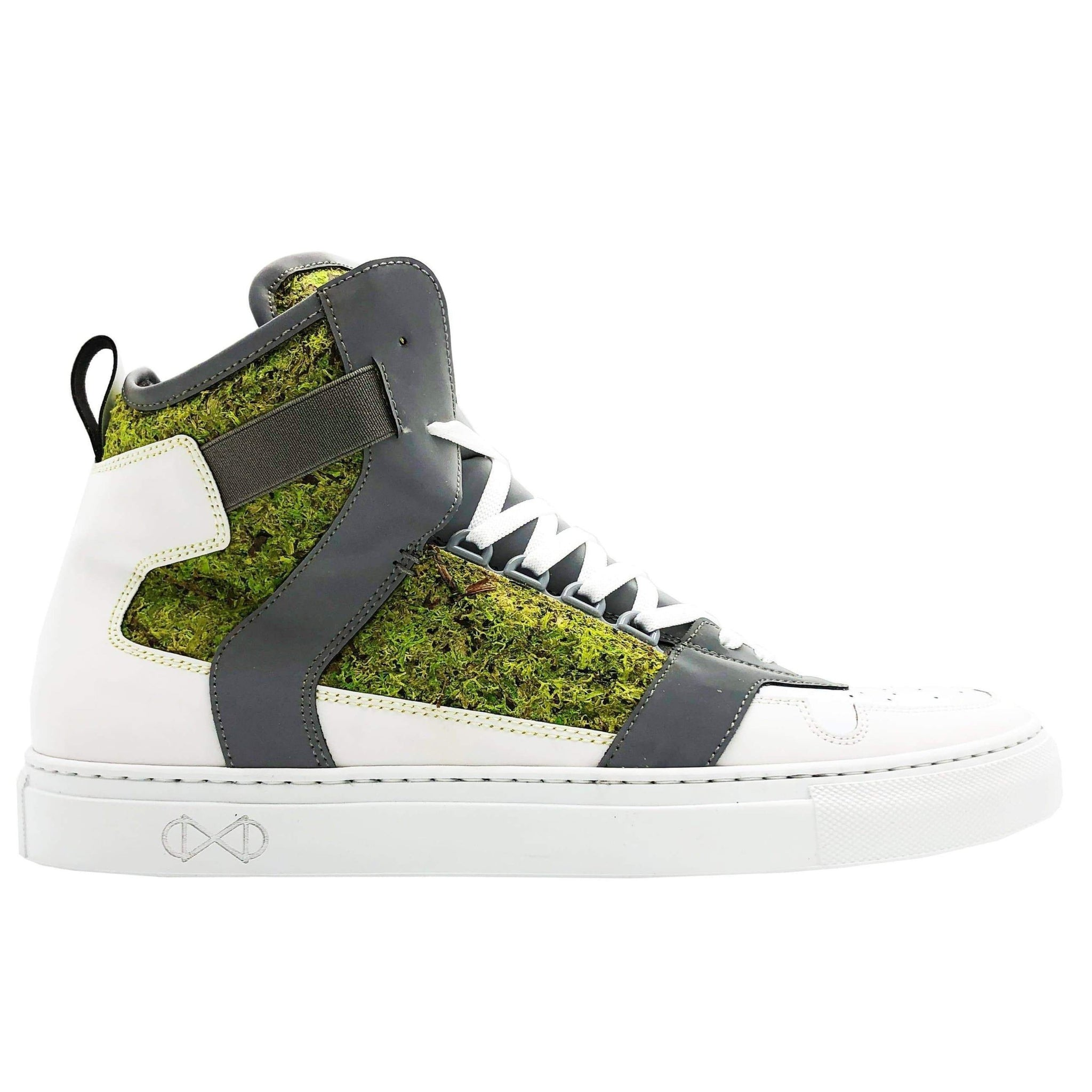 NAT 2 shoe Moss Cube Sneakers. Real Moss, Glass and Recycled PET Bottles. sustainable fashion ethical fashion