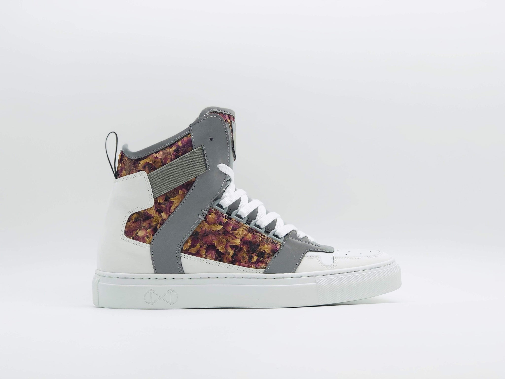 NAT 2 shoe Rose Cube Sneakers. Roses and Glass. sustainable fashion ethical fashion