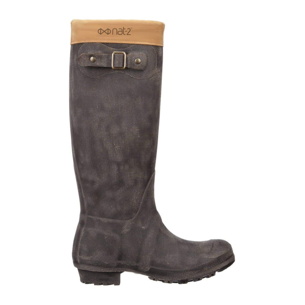 NAT 2 shoe Rugged Prime Hunt Rain Boots. Rubber and Recycled Leather. sustainable fashion ethical fashion