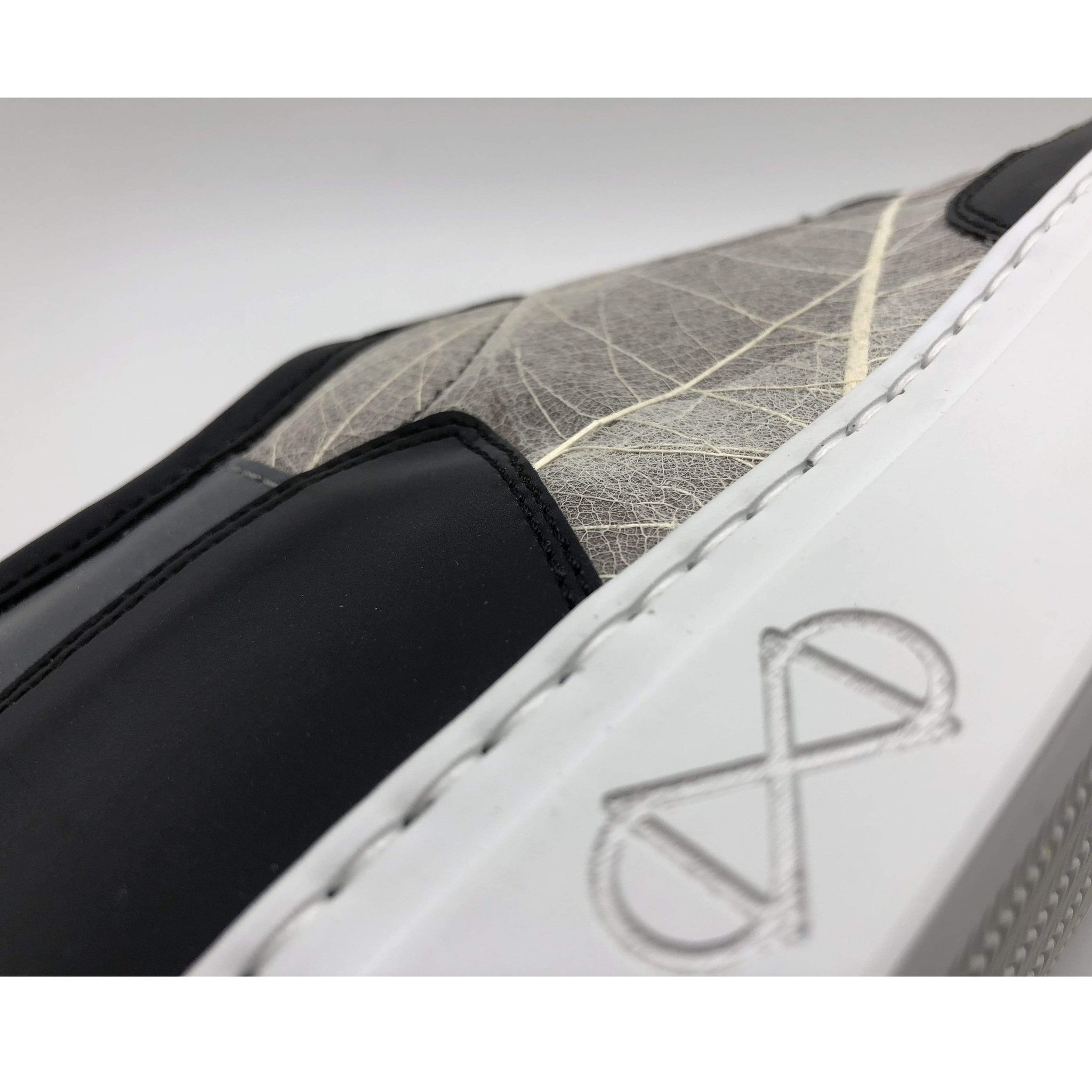 NAT 2 shoe Skeleton Leaves Sneakers. Real Skeleton Leaves, Glass and Recycled PET Bottles. sustainable fashion ethical fashion