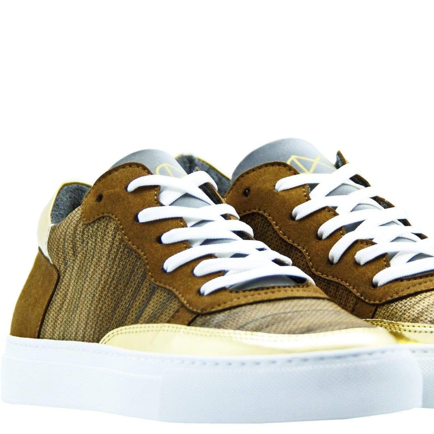 Wood Sneakers in Real Wood, Reflective Glass and Mircofiber from Recycled PET.