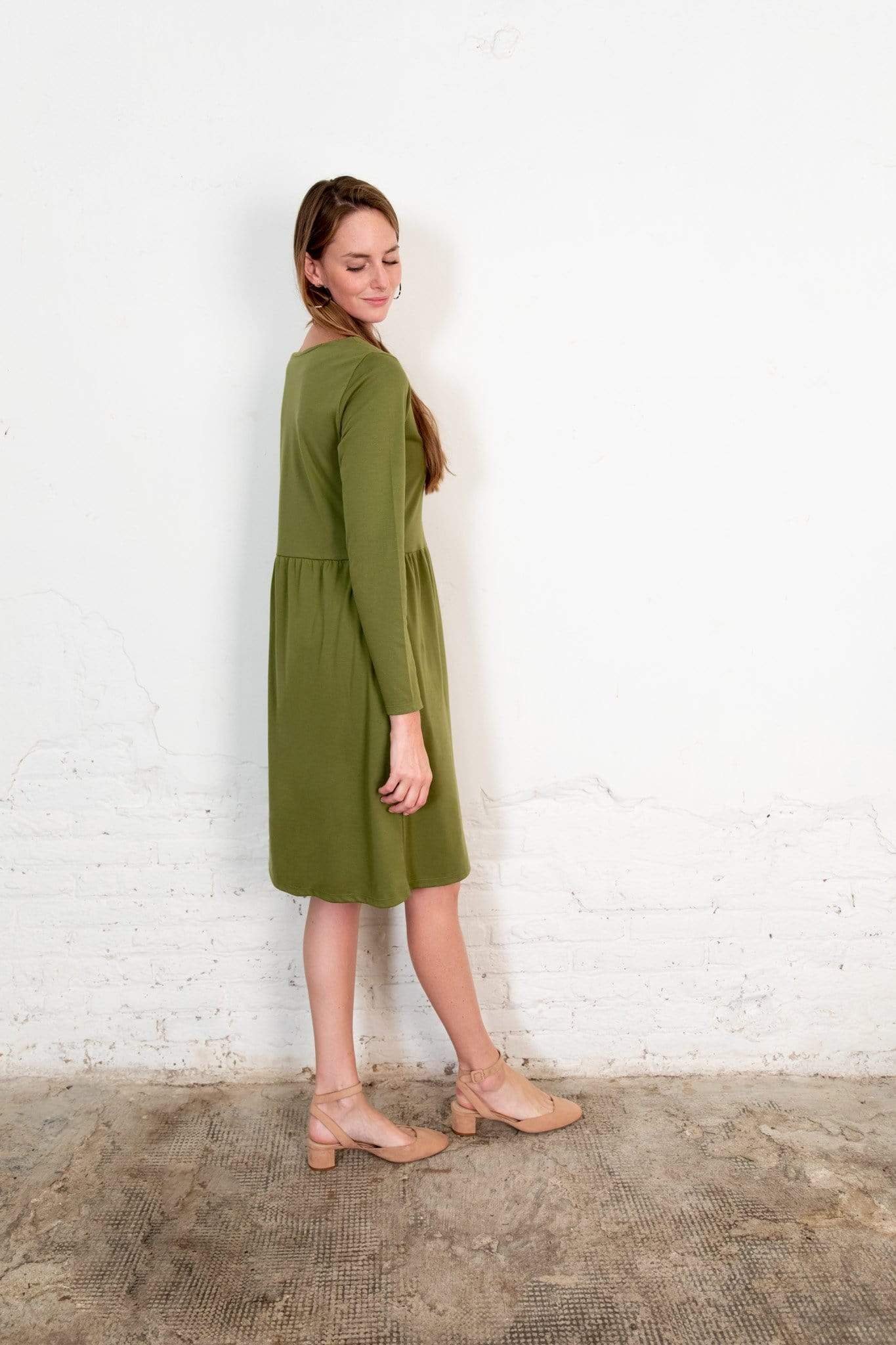 Nordic Leaves dress Annor Dress in Organic Cotton. sustainable fashion ethical fashion