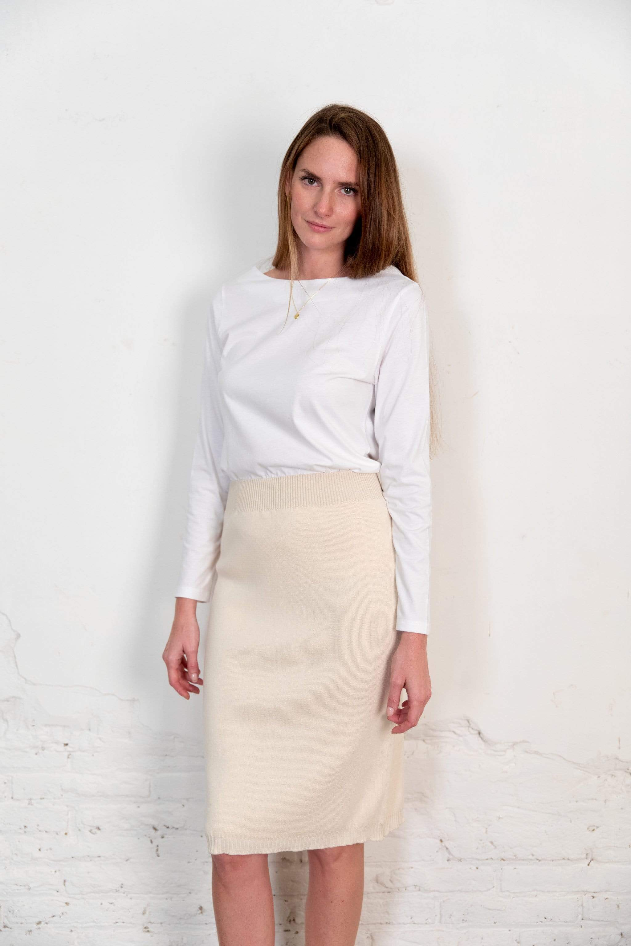Nordic Leaves skirt Fapun Skirt in Organic Cotton. sustainable fashion ethical fashion