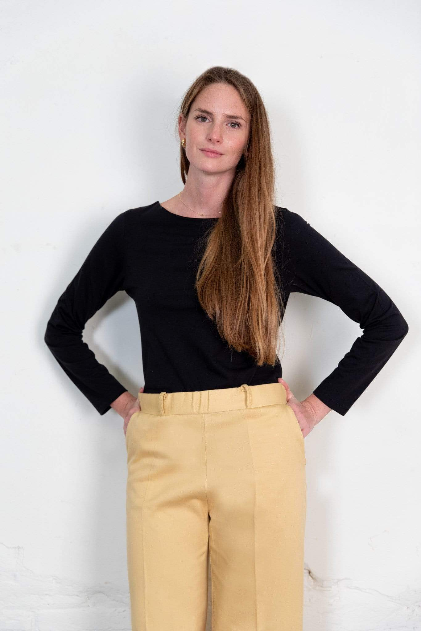 Nordic Leaves top Blucu Blouse in Organic Cotton. sustainable fashion ethical fashion