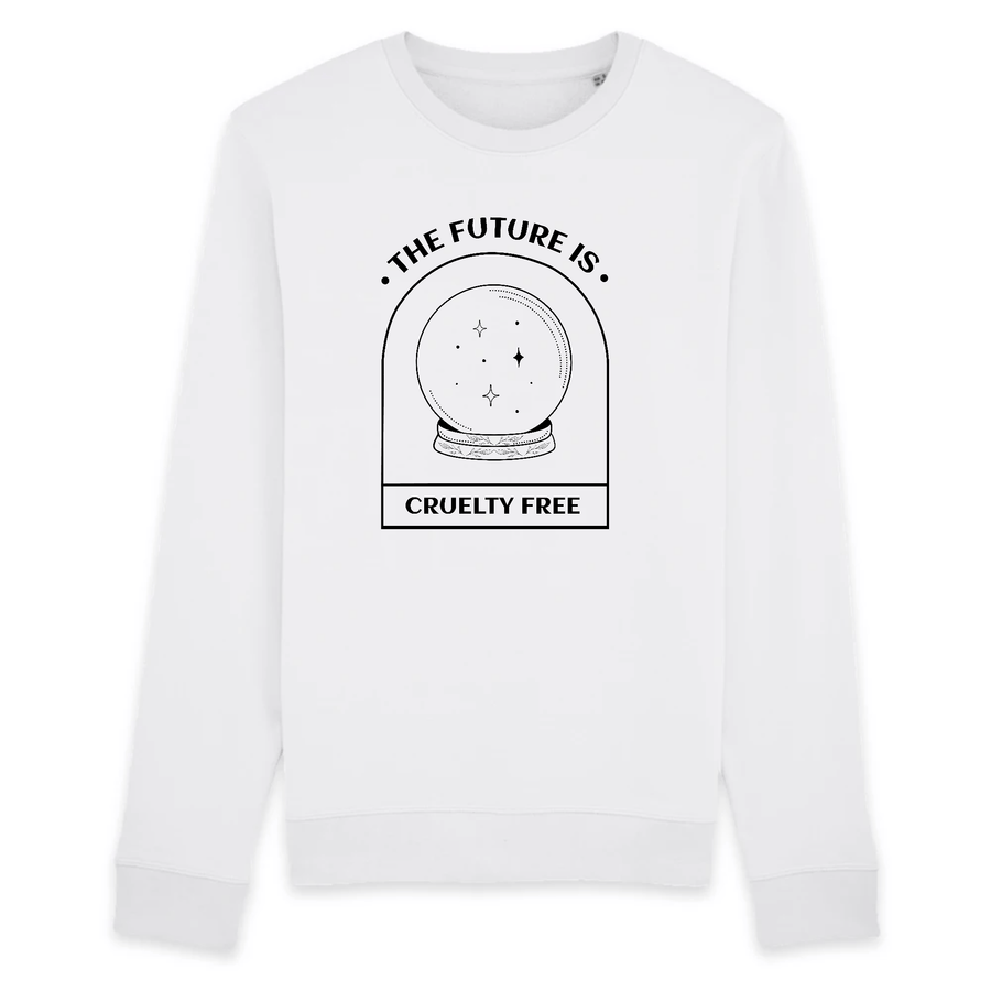 OATMILKCLUB Sweat-shirt - Rise - Stanley - DTG The Future is Cruelty Free - Sweat-shirt en coton bio mode durable mode éthique