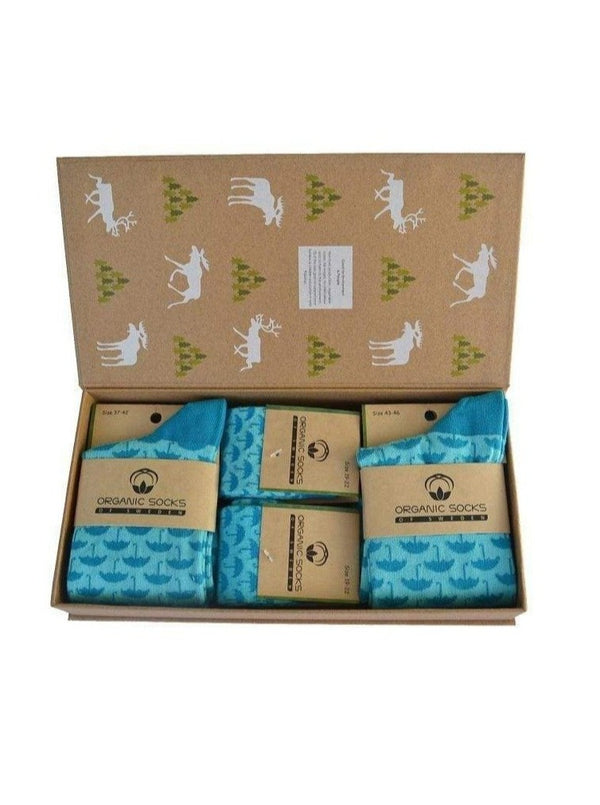 Organic Socks of Sweden Sjöström Socks Family Box. Organic Cotton. sustainable fashion ethical fashion