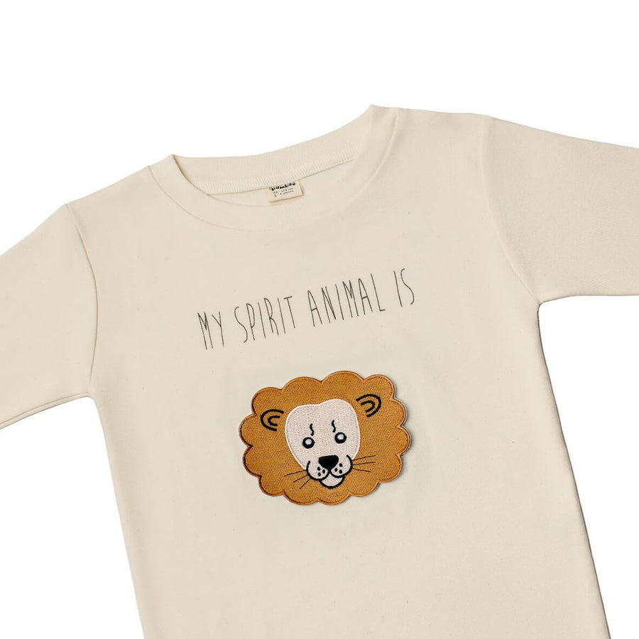 "Pamboo Tshirt Langarm-Shirt mit 8 Tiermotiven ""My Spirit Animal"" für Kinder sustainable fashion ethical fashion"