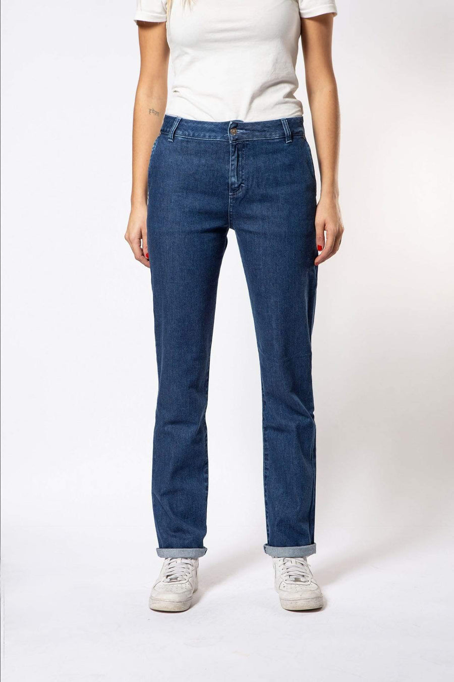 Par.co DENIM Woman Fior di Loto Straight Jeans sustainable fashion ethical fashion