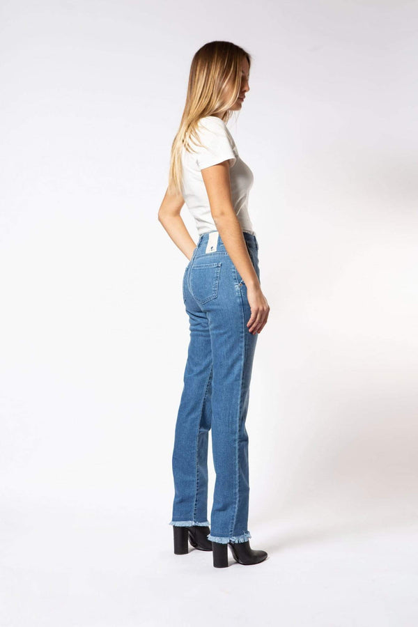 Par.co DENIM Jeans Lavanda Straight Donna moda etica moda sostenibile