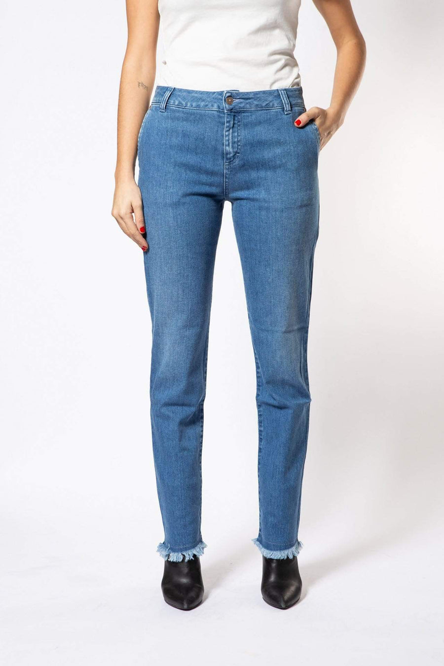 Par.co DENIM Woman Lavanda Straight Jeans sustainable fashion ethical fashion