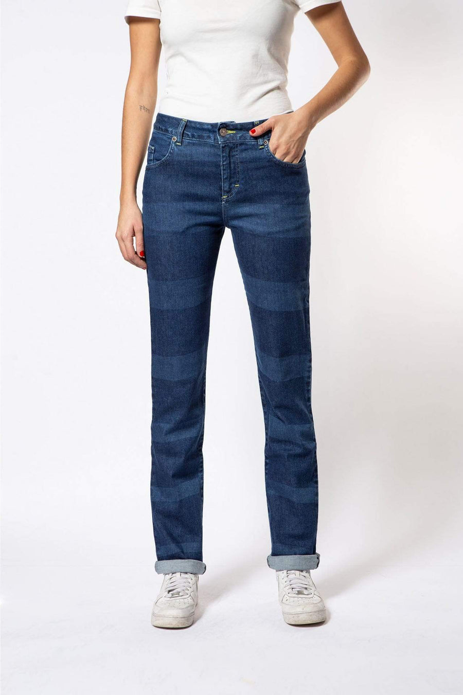 Par.co DENIM Femme Viola Straight Jeans mode durable mode éthique