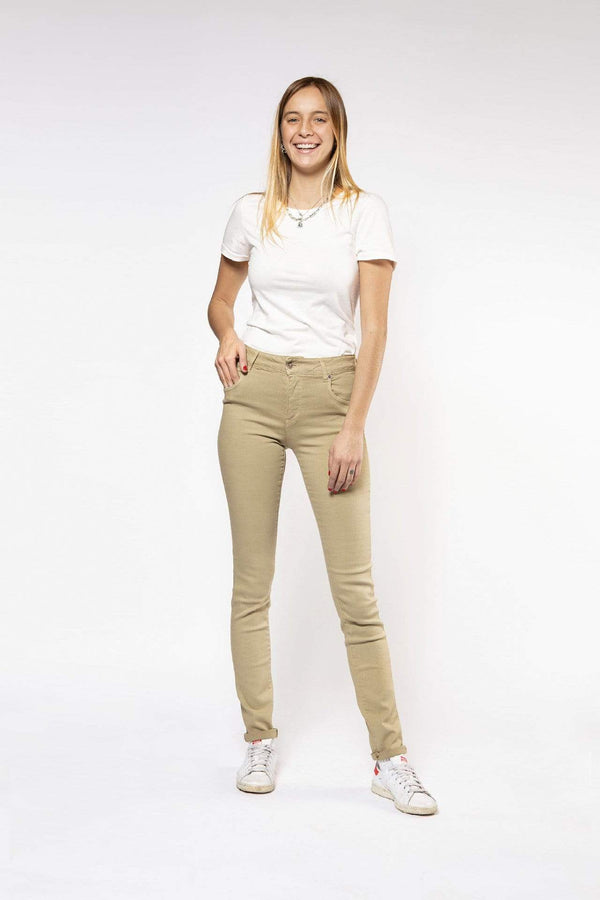Pantalon Par.co Fashion SRL Fresia Skinny Jeans en coton biologique. mode durable mode éthique