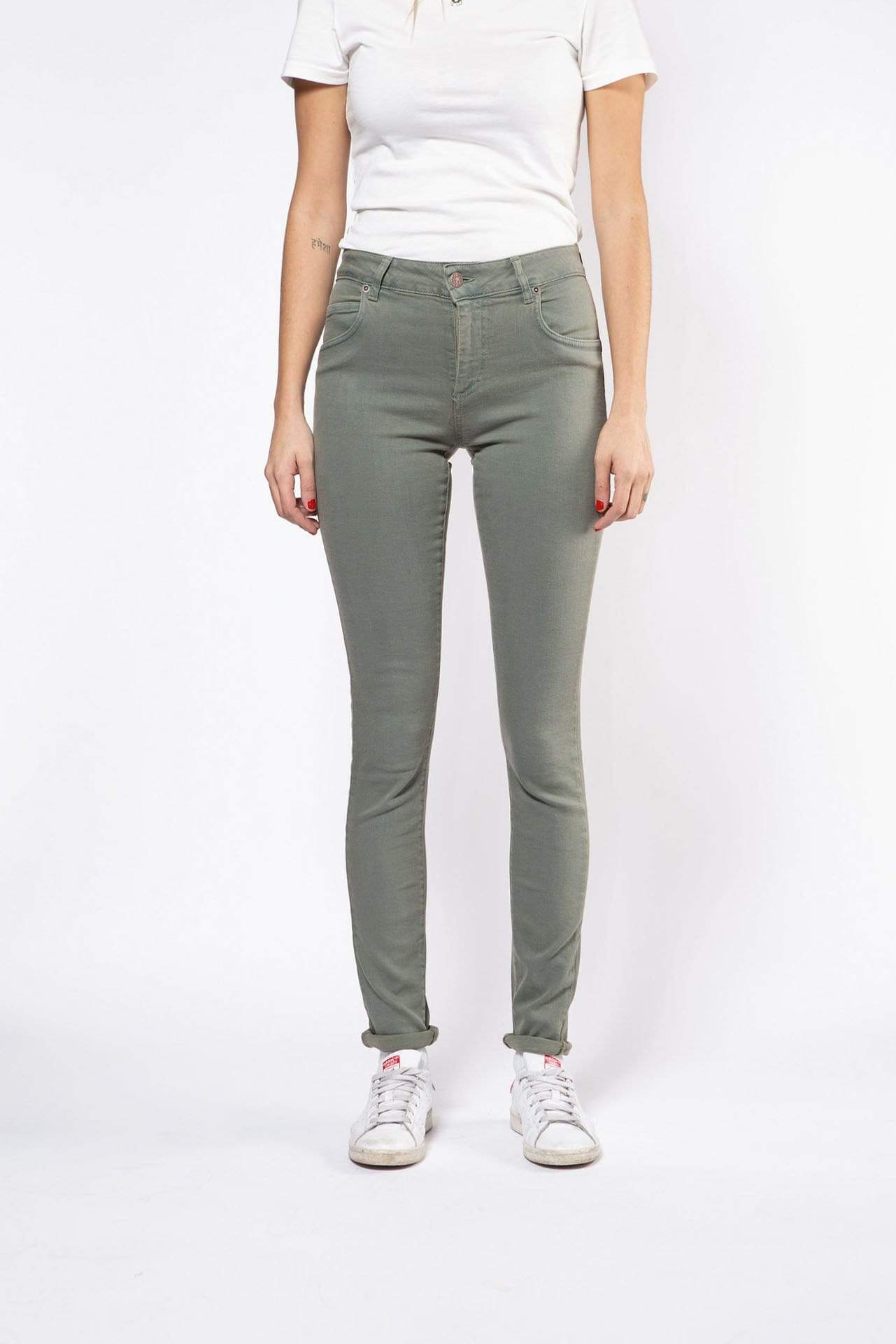Par.co Fashion SRL pants Fresia Skinny Jeans in Organic Cotton. sustainable fashion ethical fashion