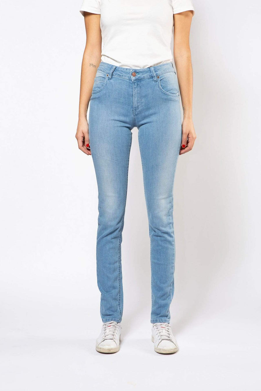 Pantalon Par.co Fashion SRL Glicine Skinny Jeans en coton biologique. mode durable mode éthique