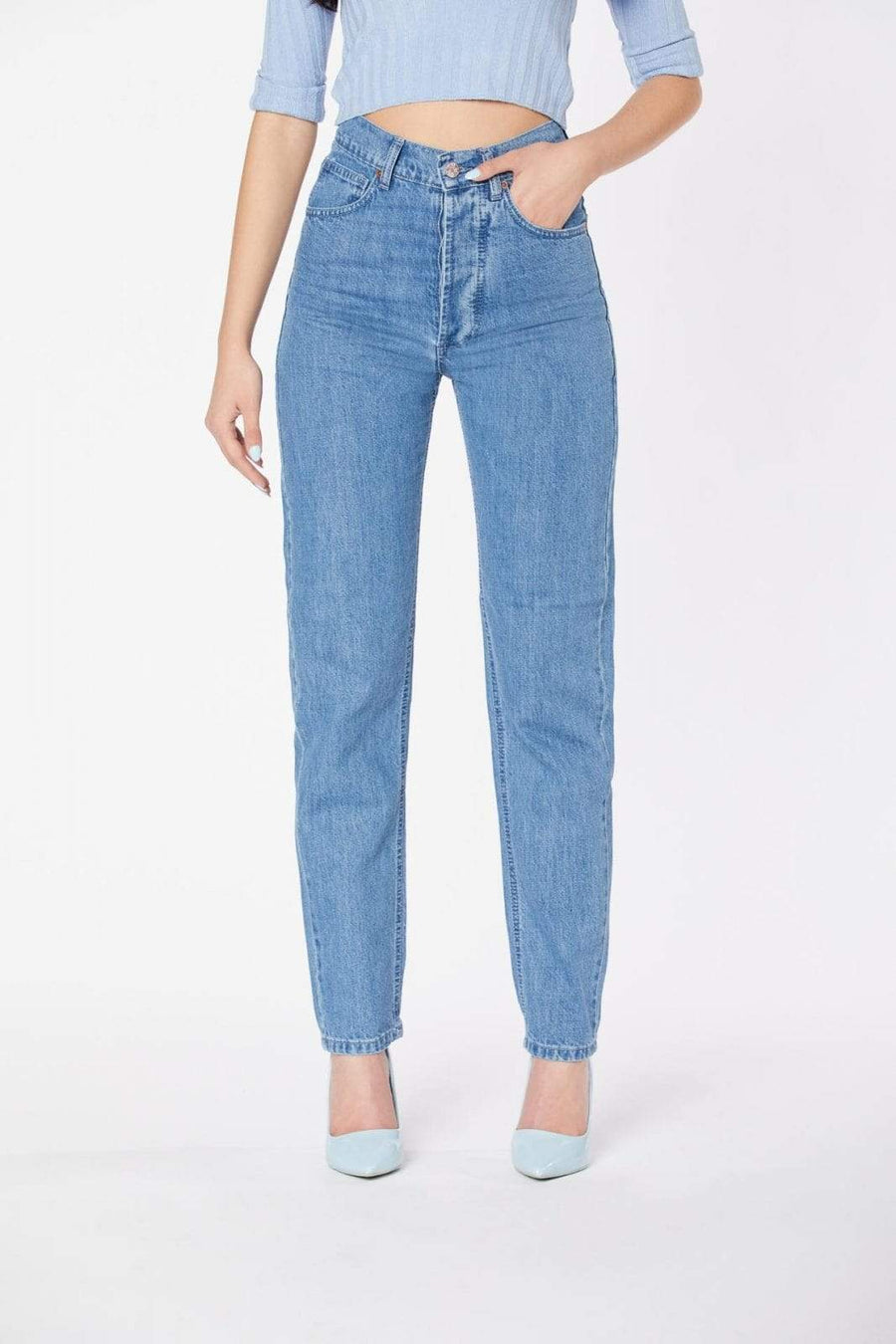Par.co Fashion SRL pants Peonia Work Jeans in Organic Cotton. sustainable fashion ethical fashion