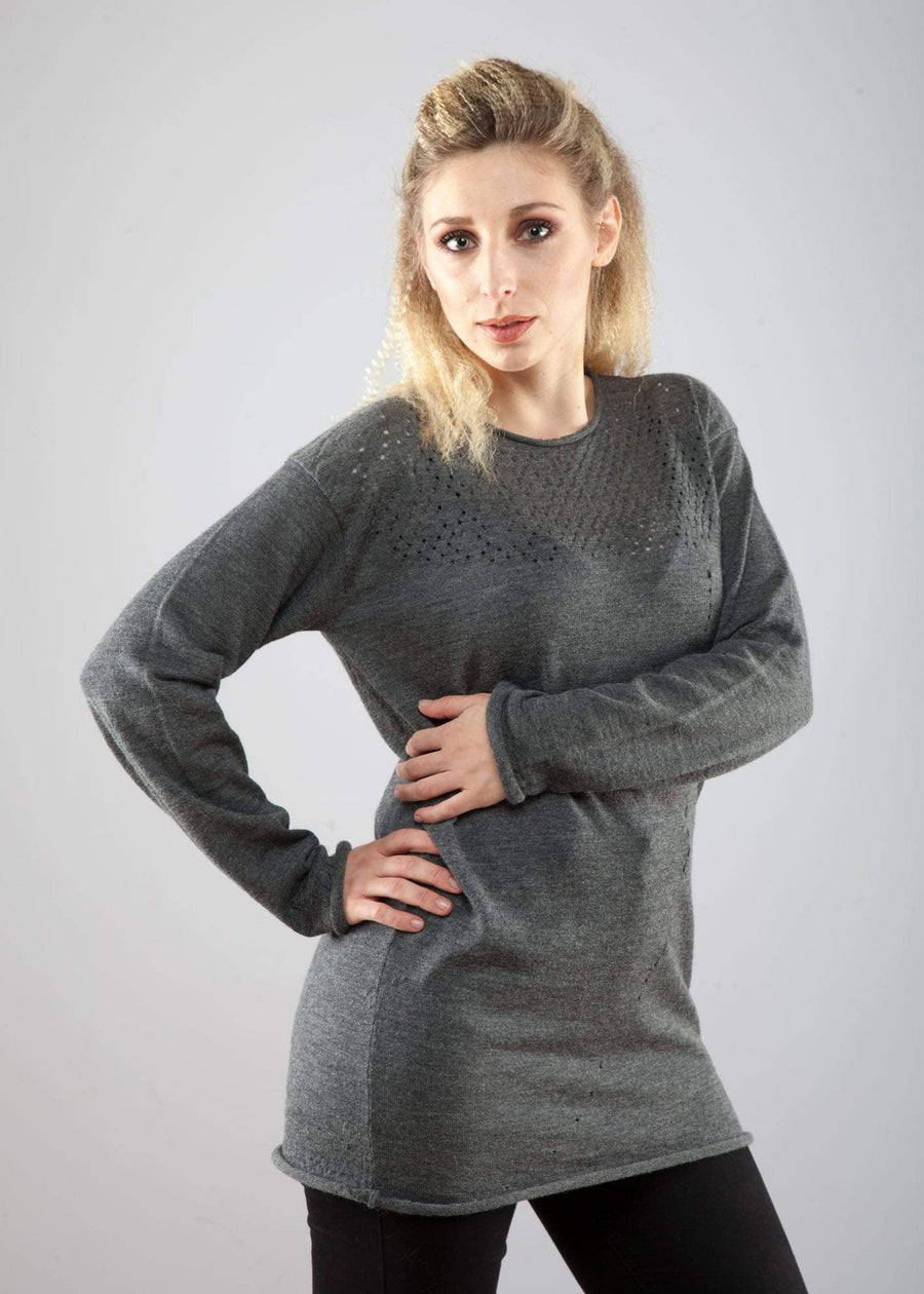 Pianetha Maglieria Maglia in alpaca traforata sustainable fashion ethical fashion