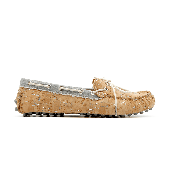 RUTZ Mocassins/Loafers Vegan Mocassins | Natural-Silver & Organic Grey sustainable fashion ethical fashion