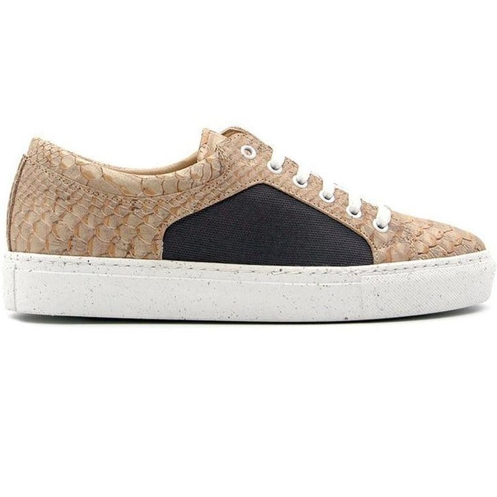 RUTZ Sneakers Regular Sneakers | White Snake & R-PET Grey sustainable fashion ethical fashion